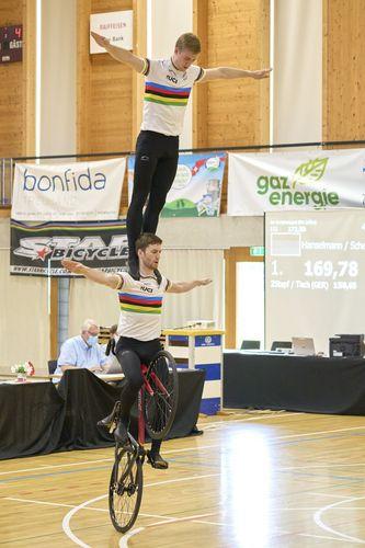 Kunstrad-Welt-Cup in der Schweiz- erster internationaler Wettkampf im Kunstradsport seit über einem Jahr