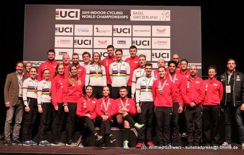 Nationalmannschaft Hallenradsport WM 2019