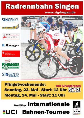 Sportdeutschland.tv überträgt Spitzensport von der Radrennbahn in Singen live