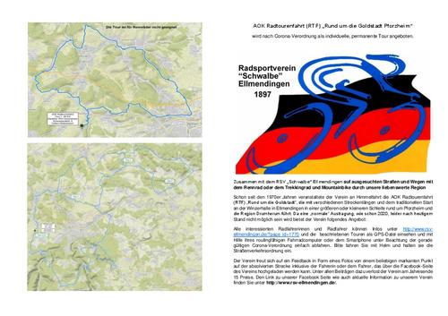 AOK-Radtourenfahrt des RSV Schwalbe Ellmendingen